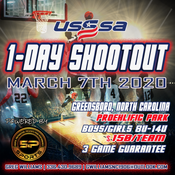 USSSA 1 DAY Shootout Flyer 2020